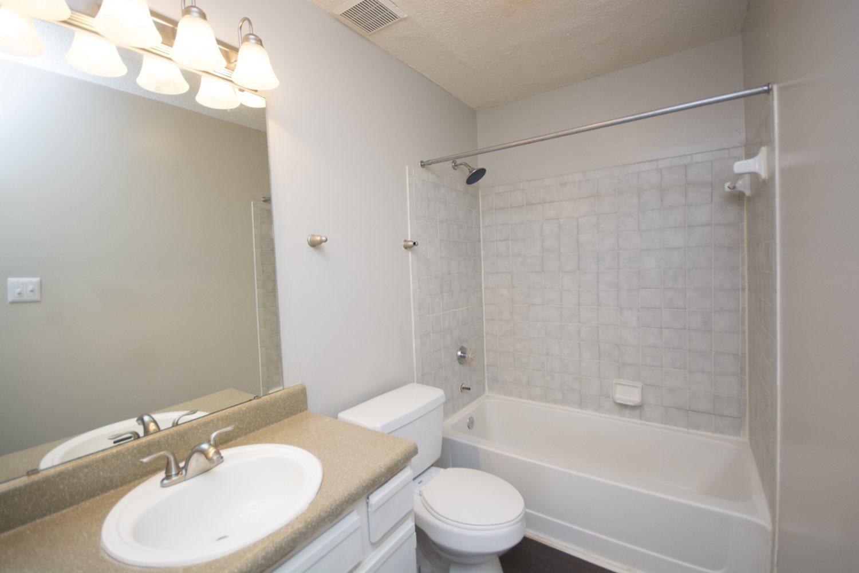 Bathroom at Axiom Apartments in Charlotte, North Carolina