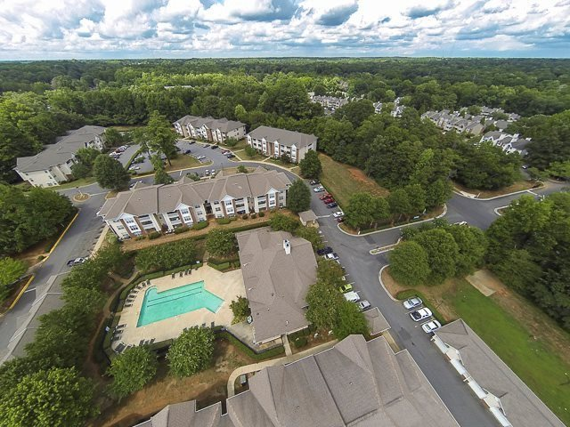 Aerial view of The Avalon in Charlotte, NC