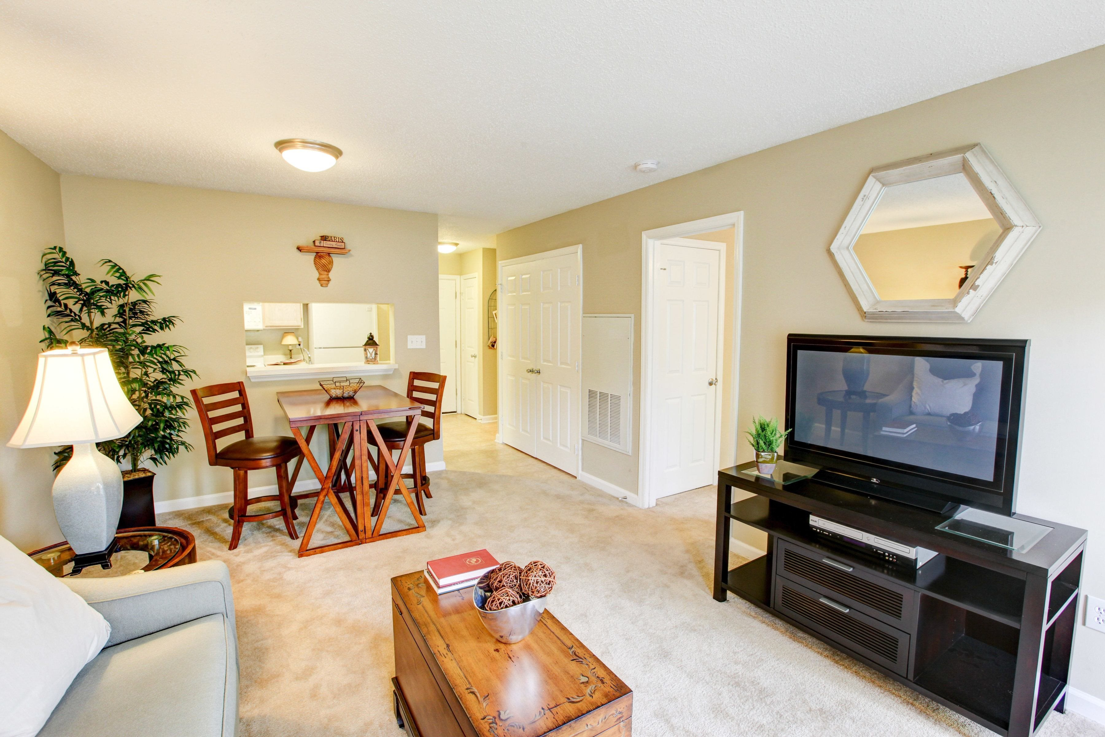 Living Room at Brookefield Apartment Homes in Raleigh, NC