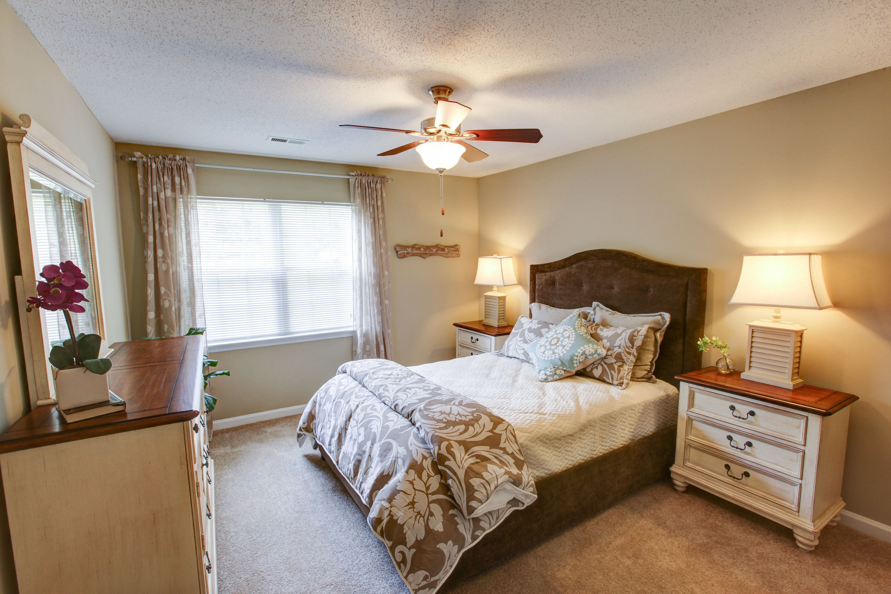 Bedroom at Brookefield Apartment Homes in Raleigh, NC