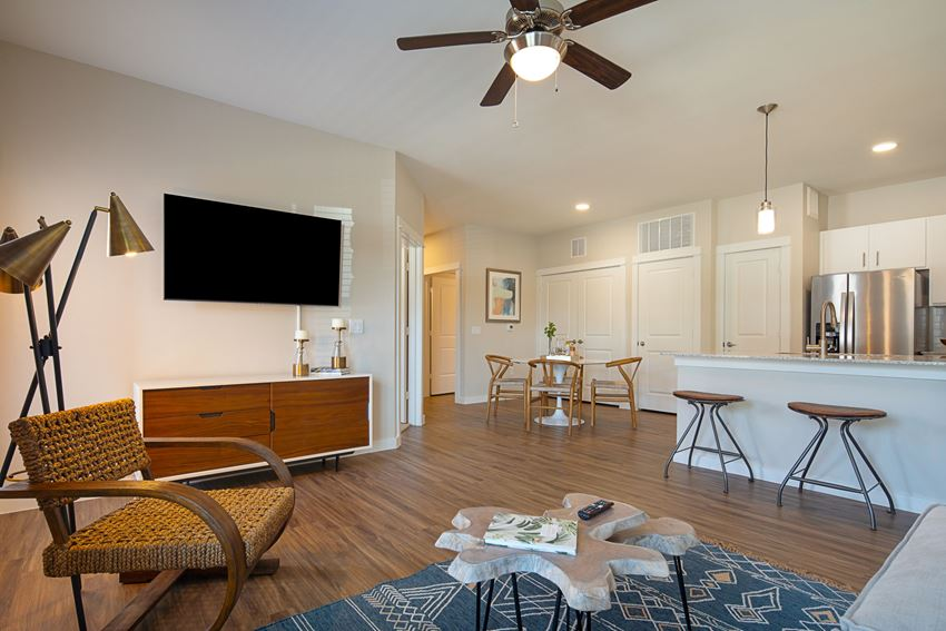 Living Room at Hawthorne at Blanco Riverwalk in San Marcos, TX