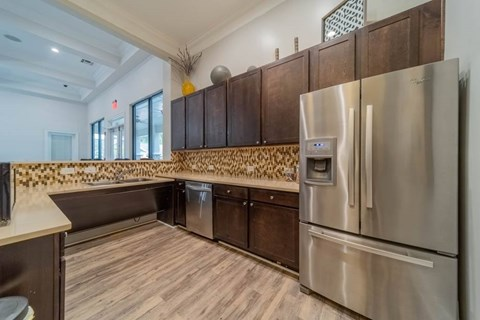 Clubhouse Kitchen at The Oxmoor Apartments in Birmingham, AL