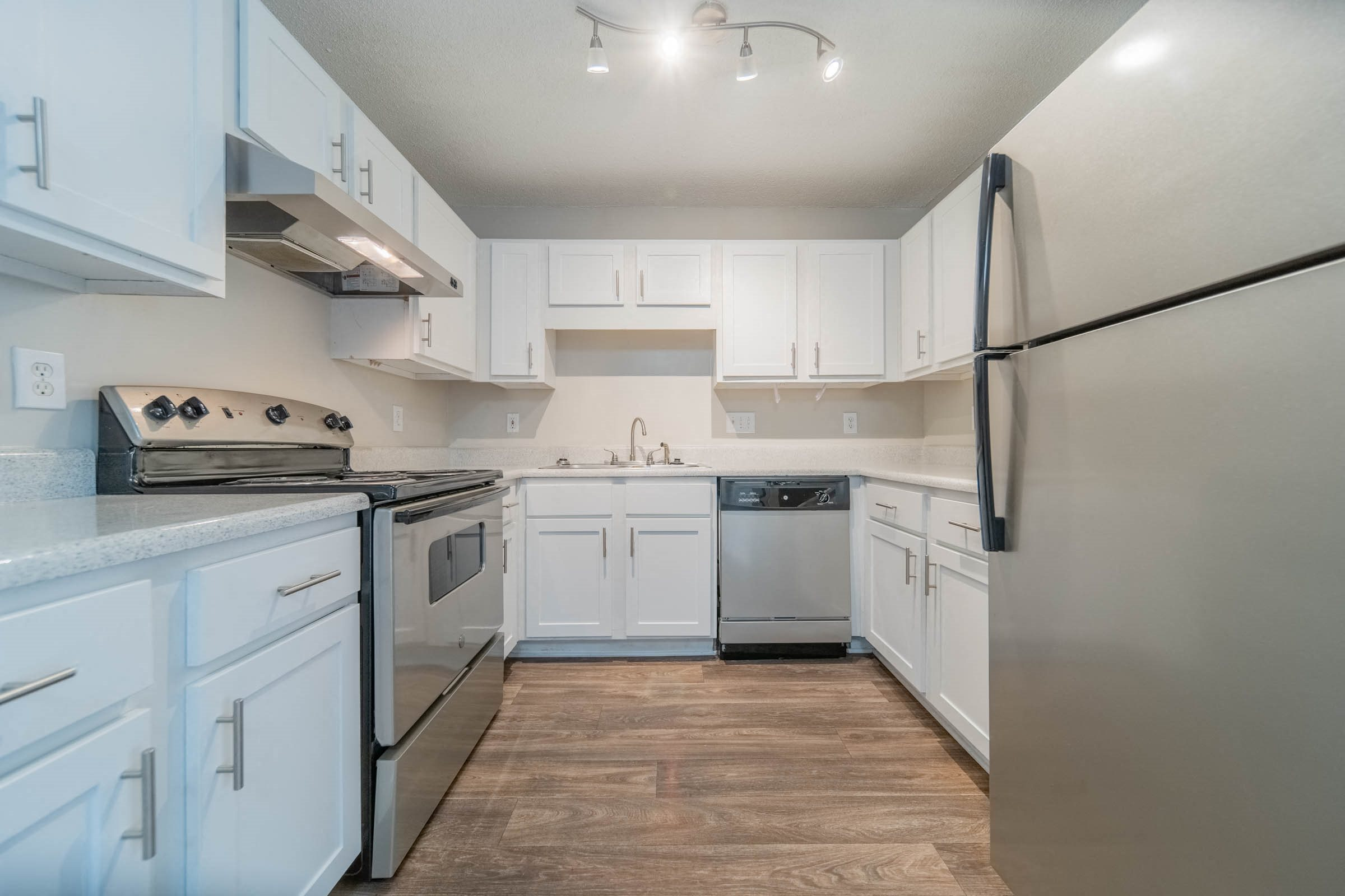 Beautifully designed white cabinetry at Mission Triangle Point