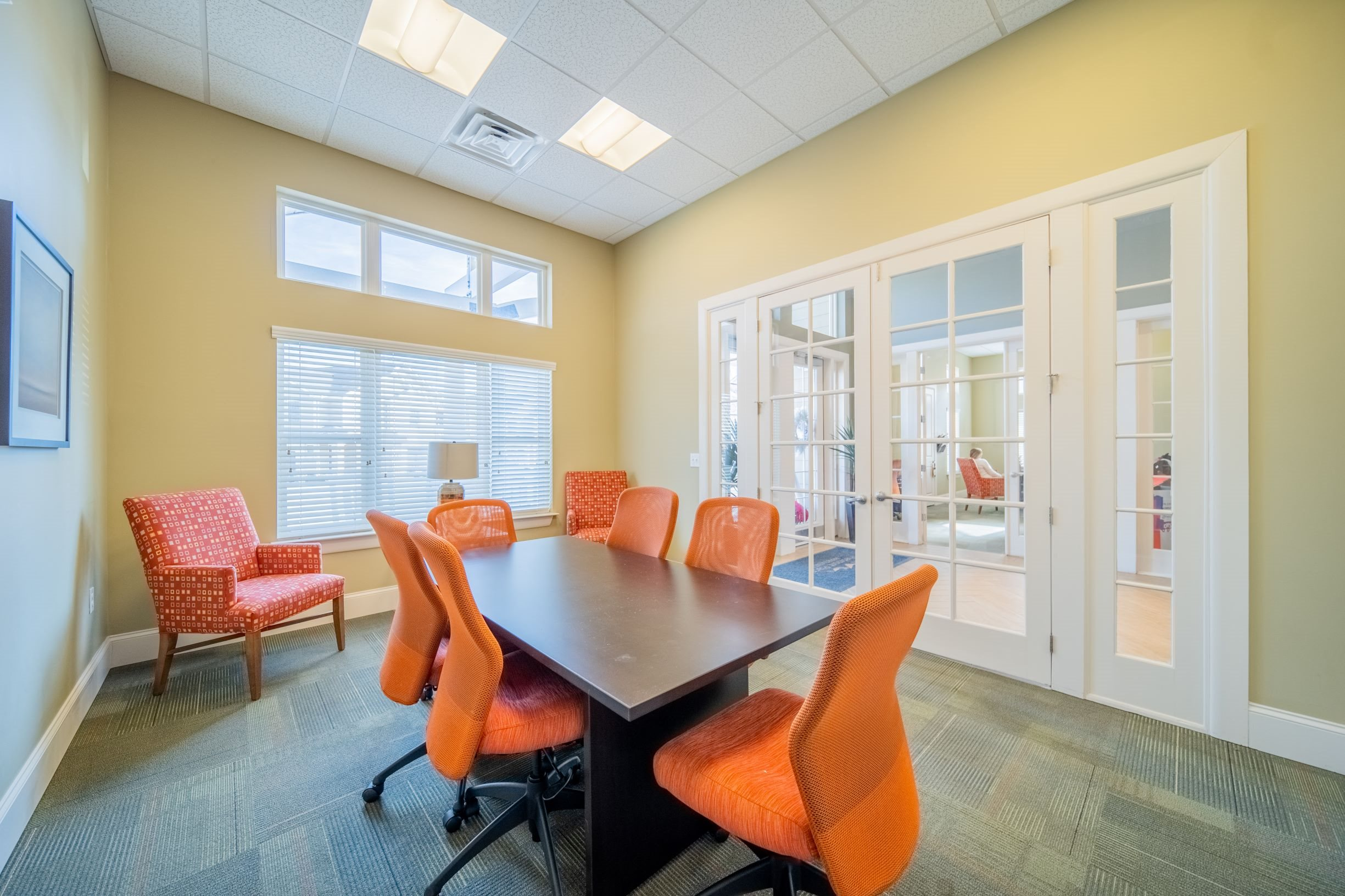 Conference room at Piedmont Place apartments in Greensboro, NC