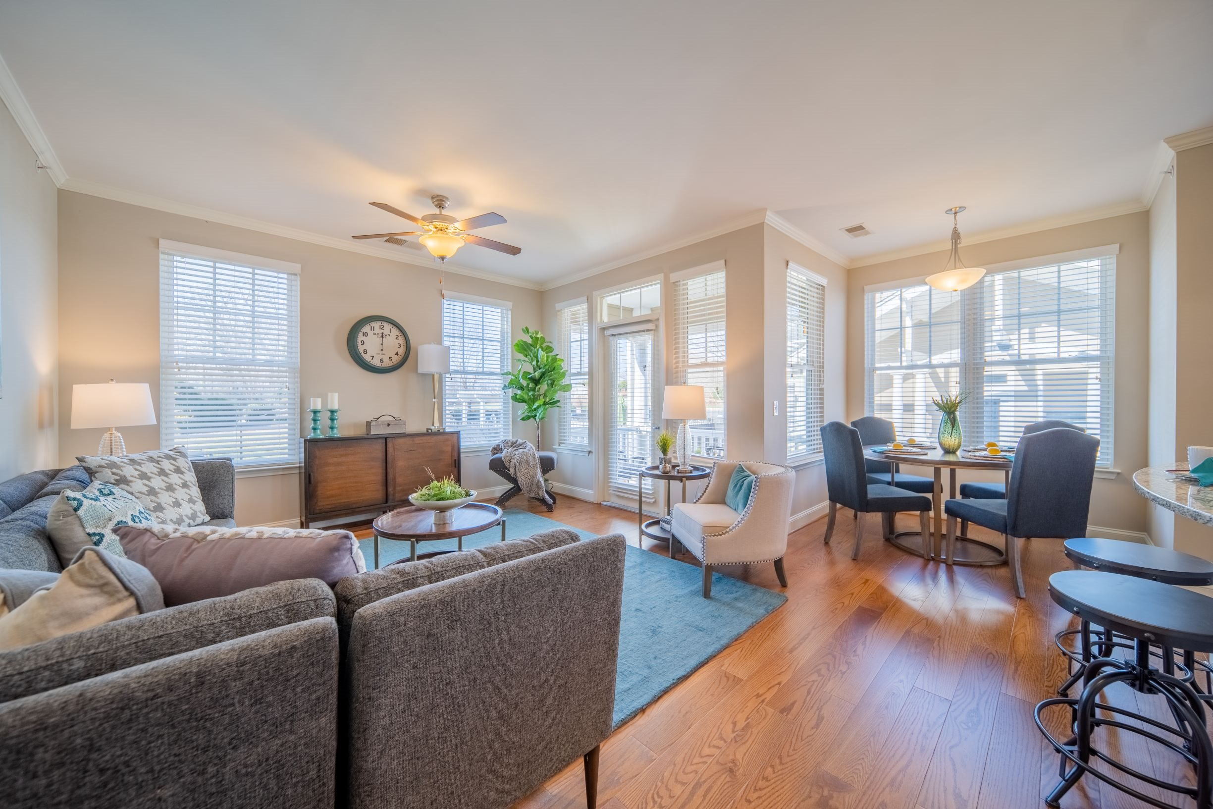 Open-concept floor plan at Piedmont Place in Greensboro, NC