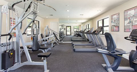 Fitness center at The Reserves of Melbourne Apartment Homes in Melbourne, FL