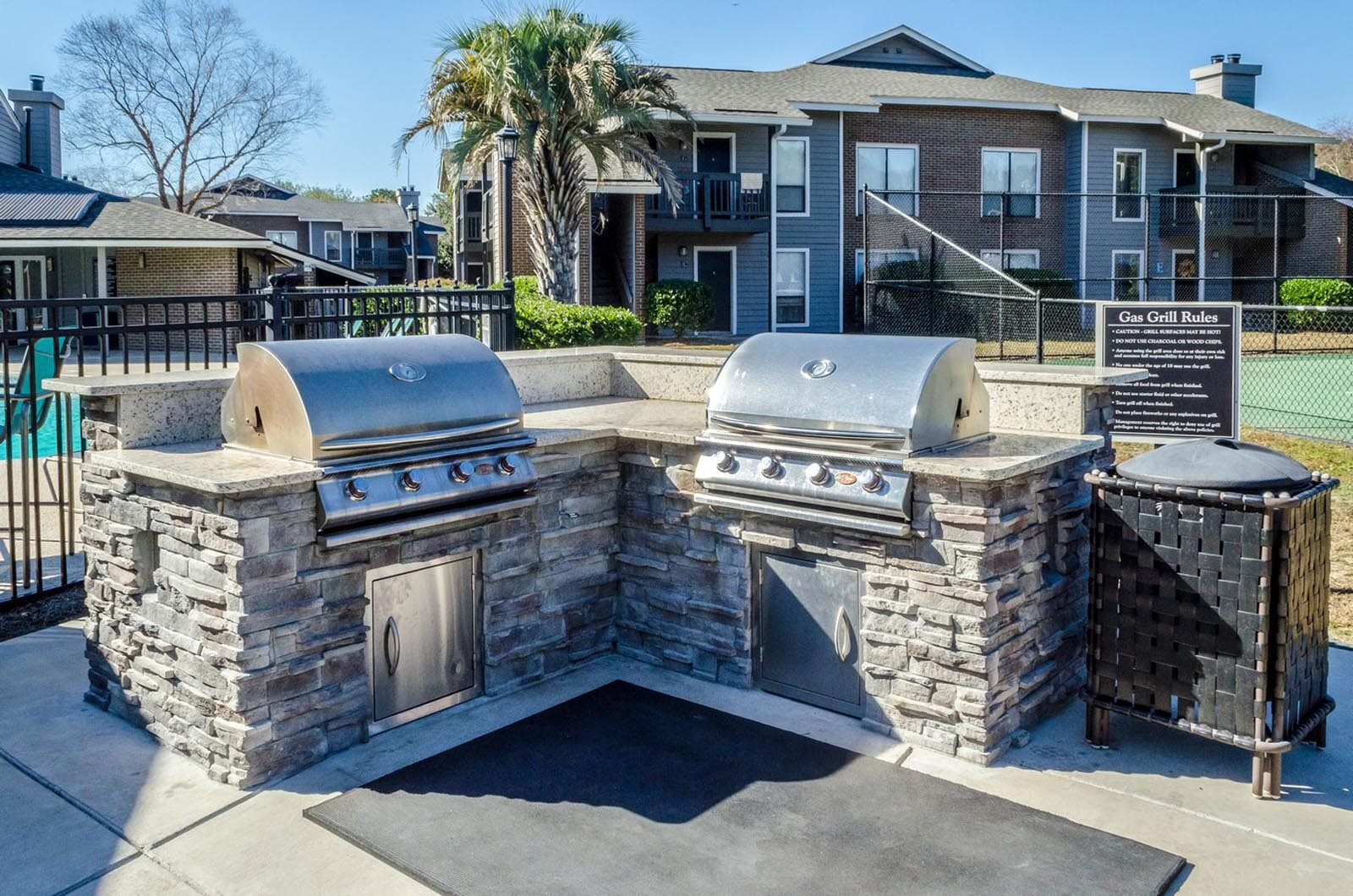 Outdoor Grilling Station at Ashley River Apartments in Charleston, SC