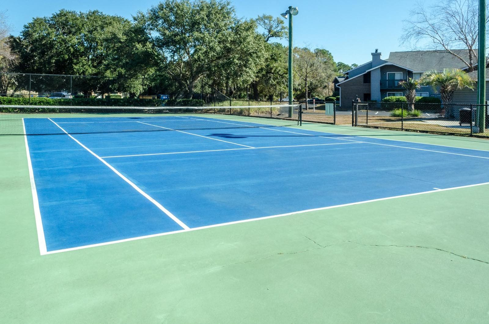 Tennis Court at Ashley River Apartments in Charleston, SC