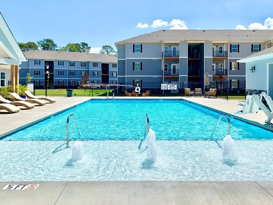 Sparkling Swimming Pool at The Springs in Boiling Springs, South Carolina