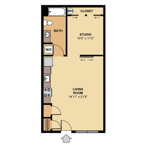 cherry 2d colorized floor plan