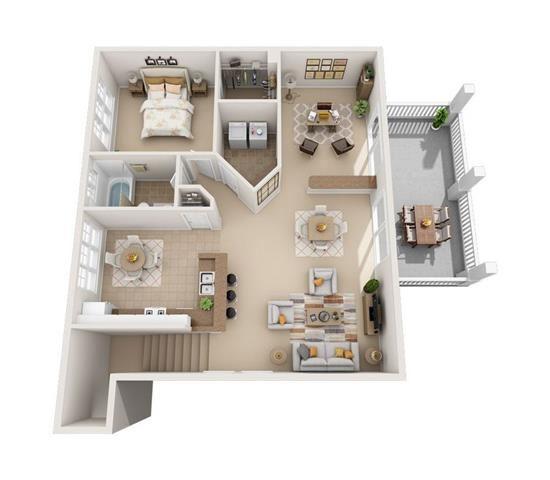 peach 3d floorplan