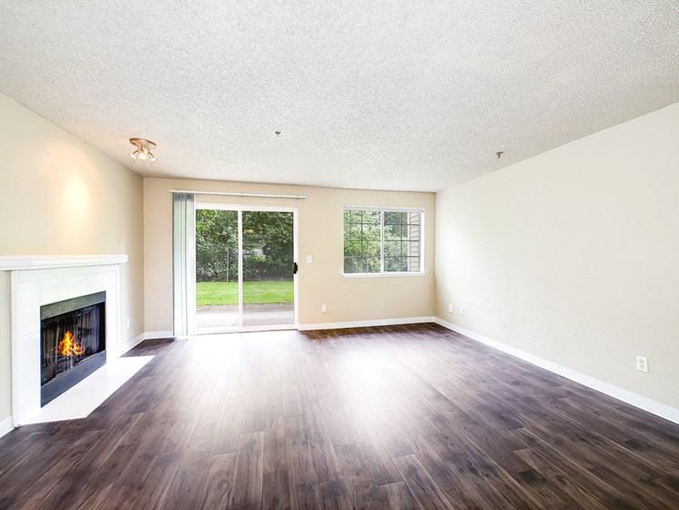 Interior sliding door living room