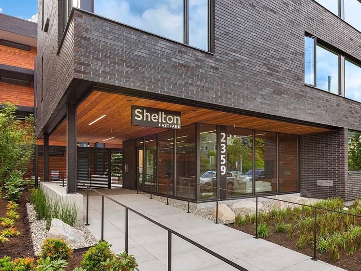Shelton Eastlake Apartments Front Entrance in Seattle, Washington