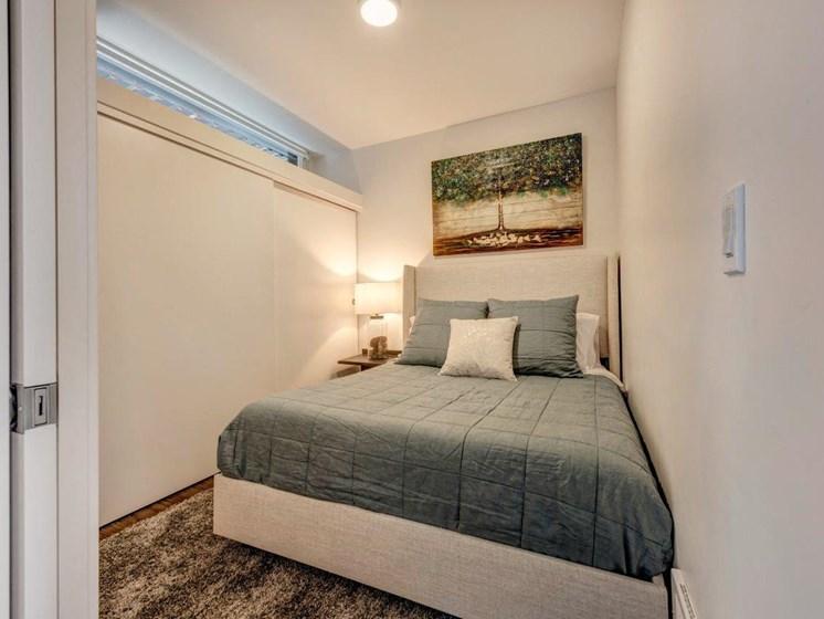 Master Bedroom at Shelton Eastlake apartments in Seattle, Washington