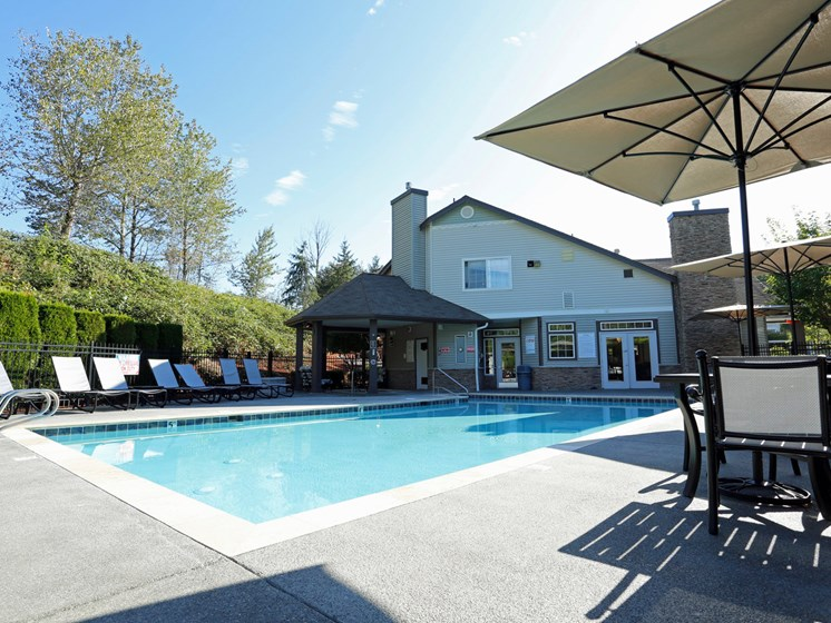 Pool Side Relaxing Area at Copper Creek, Washington, 98354