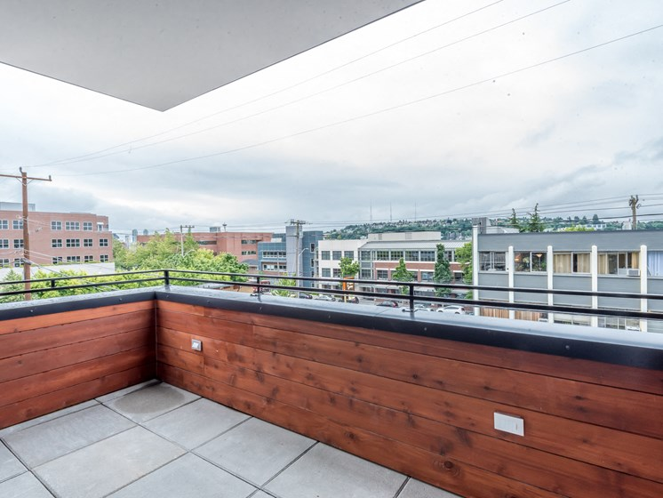 Terrace With Views at Shelton Eastlake apartments in Seattle, Washington