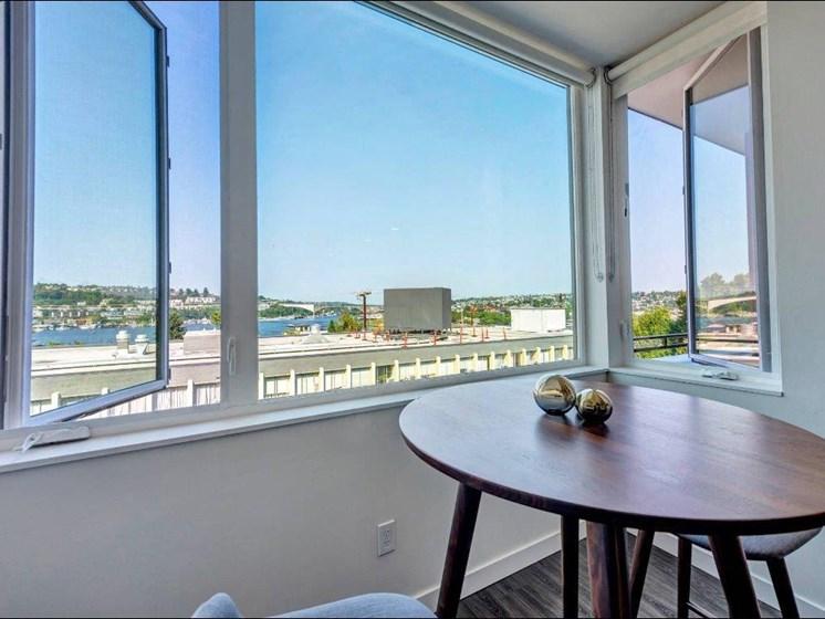 Window Views at Shelton Eastlake apartments in Seattle, Washington