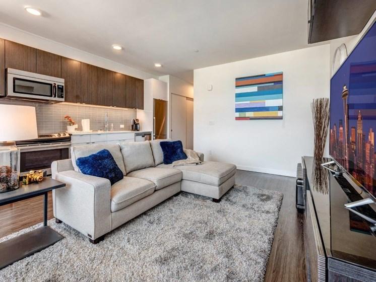 Wood Flooring  at Shelton Eastlake apartments in Seattle, Washington
