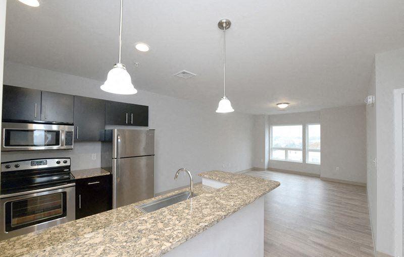 Living Room Renaissance Station North Apartments Attleboro, MA
