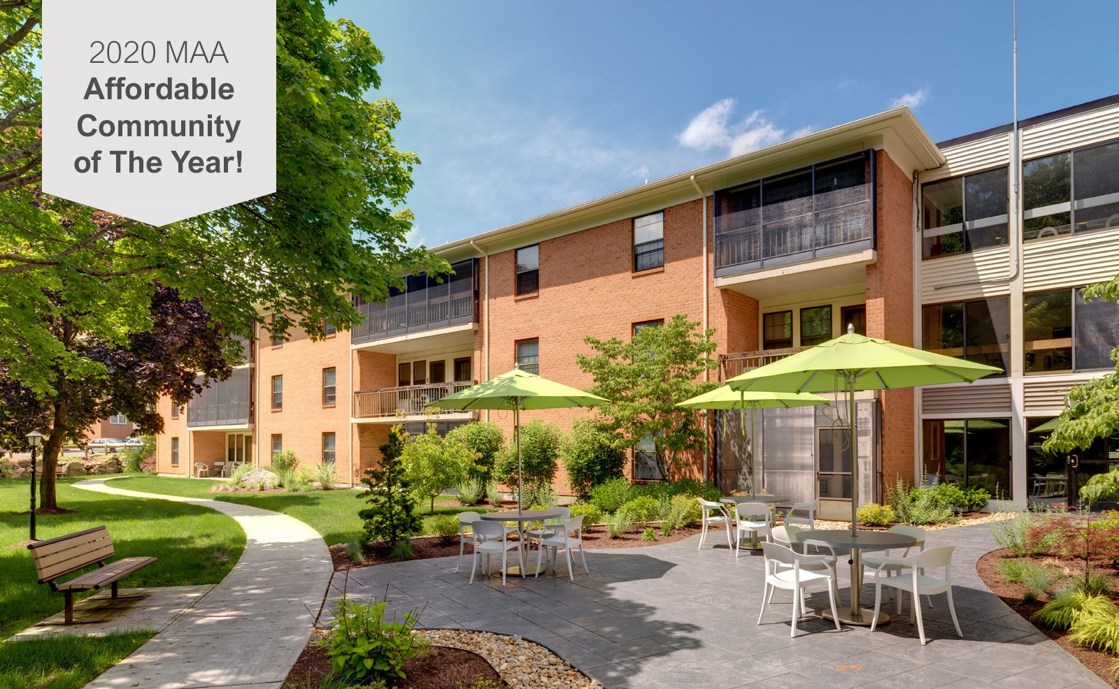 Senior living at Highland Glen Apartments in Westwood, MA
