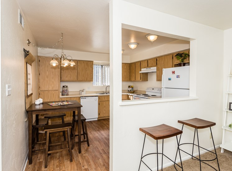 University Square Two Bedroom Apartment Eat In Kitchen