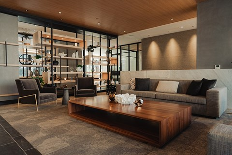 Lobby and Amenities Space in Arrowwood Apartments