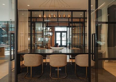 Meeting Space in Arrowwood Apartment amenities space