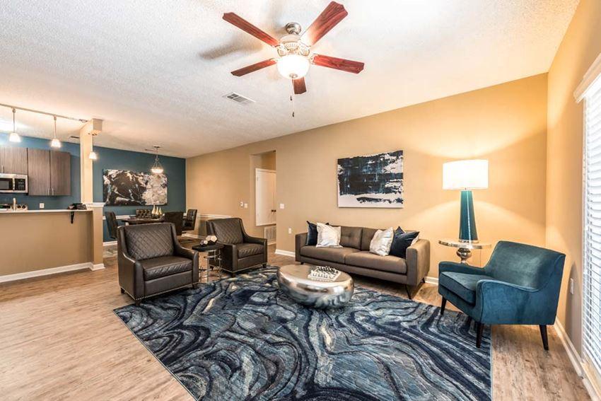 Open Living Room at Canebrake Apartment Homes, Shreveport, LA, 71115
