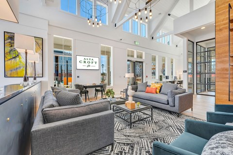 Large Clubhouse With Ample Sitting And Television at Alta Croft, Charlotte