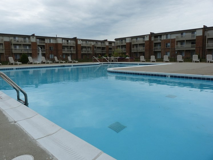 Swimming Pool And Relaxing Area at Lawrence Landing, Indianapolis, 46226