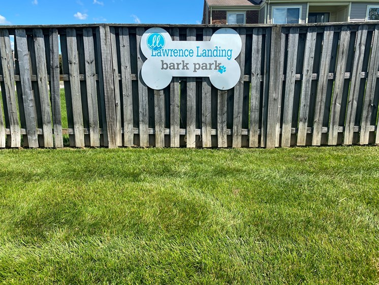 Your dogs will love our fenced Bark Park!