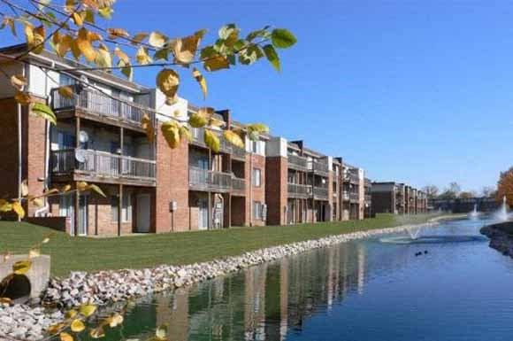 Sparking Lake Within Community at Lawrence Landing, Indiana, 46226