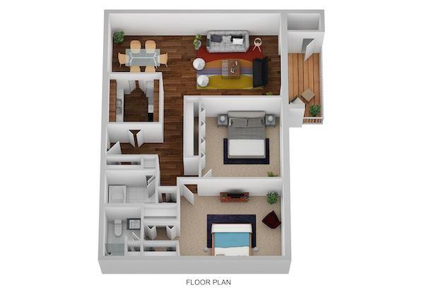 Randolph Floor Plan at Indian Creek Apartments, Cincinnati