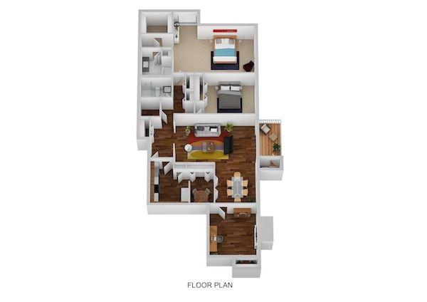 Salem Floor Plan at Indian Creek Apartments, Ohio