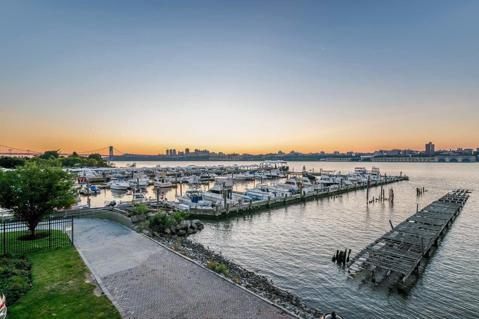 Fantastic Views of the Marina at Windsor at Mariners, Edgewater, New Jersey