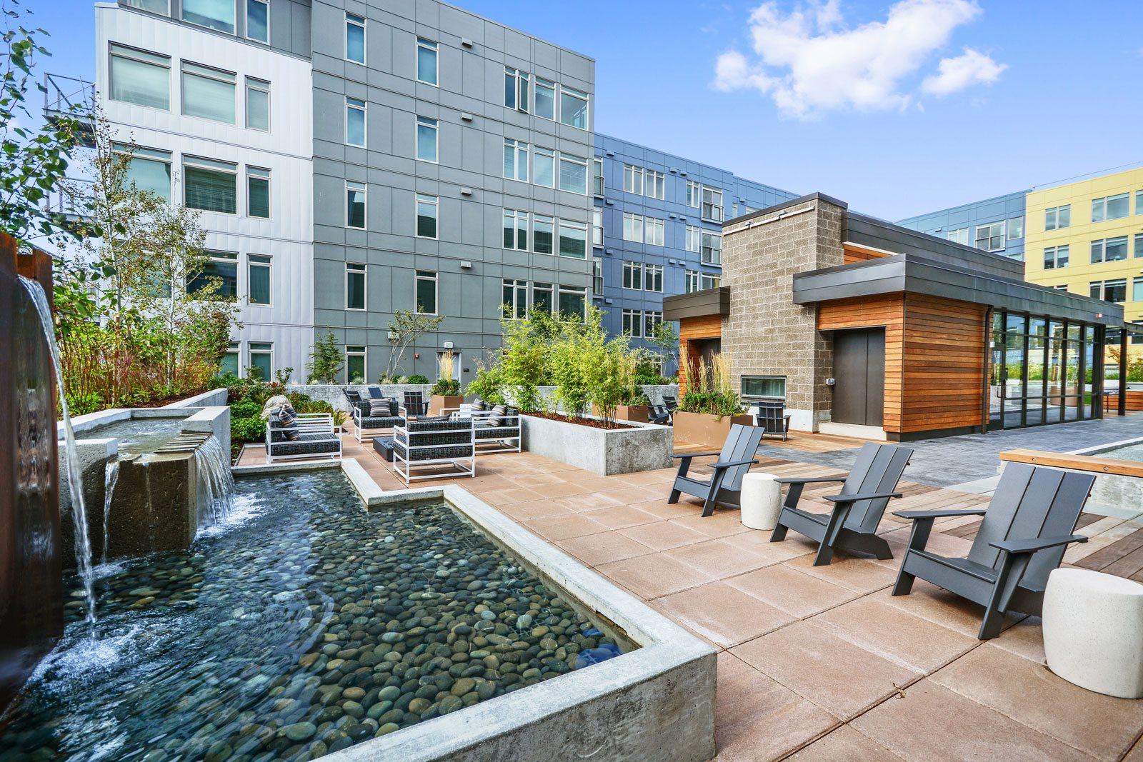 Courtyard Garden at The Whittaker, Seattle, Washington
