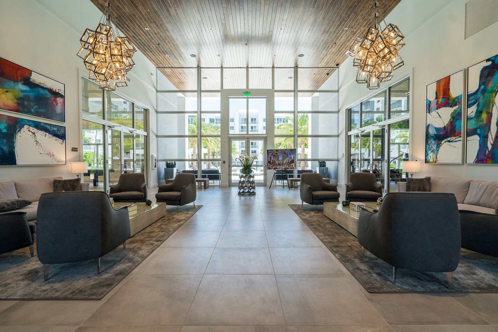 Atrium Style Lobby at Allure by Windsor, Boca Raton, 33487