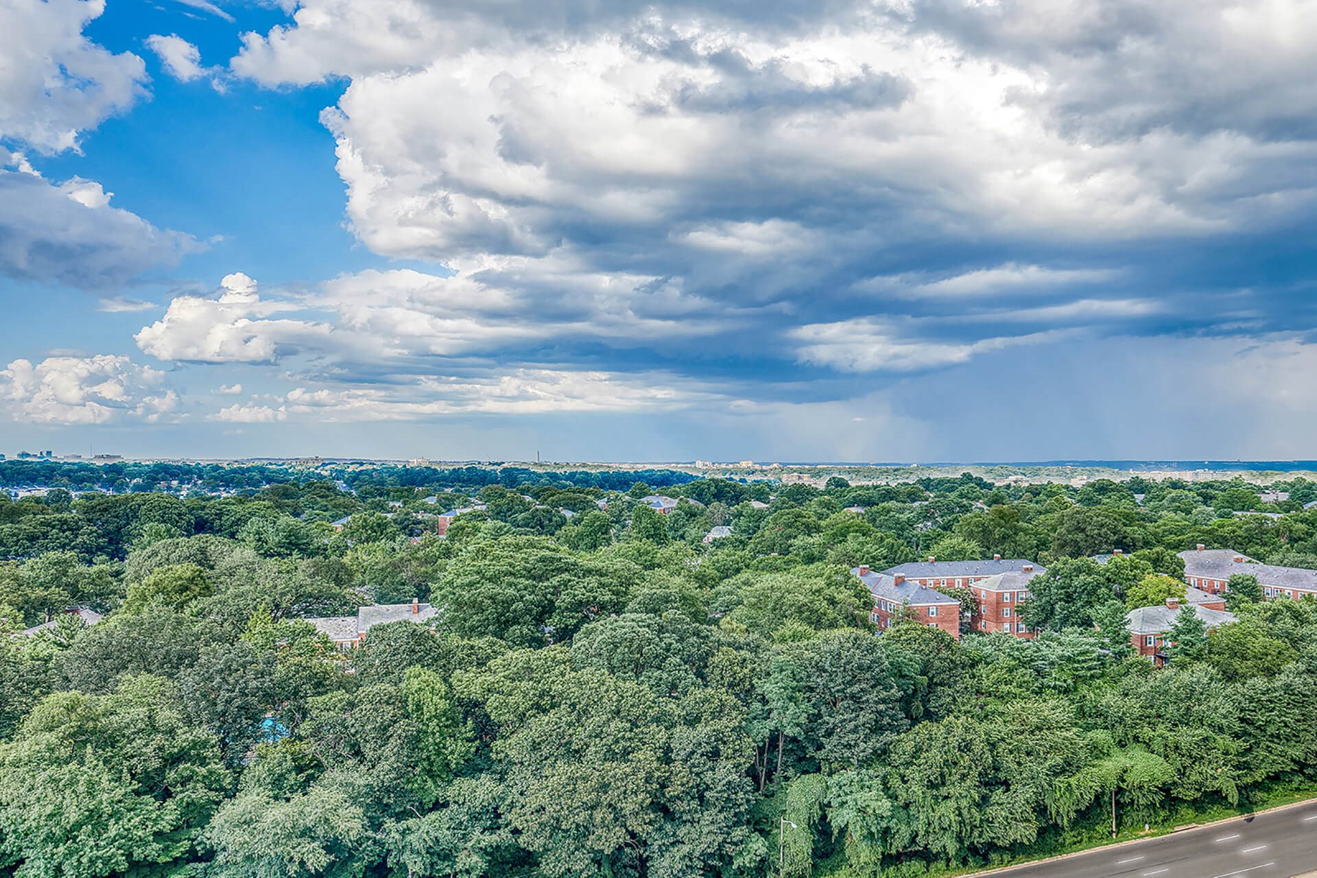 Overlooking Washington DC and the National Monuments, at Halstead Tower by Windsor, Alexandria, VA