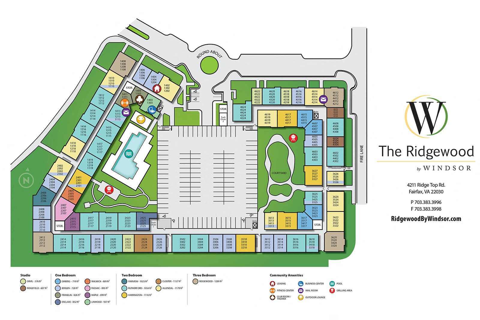 Spacious Grounds on Property Map at The Ridgewood by Windsor, 22030, VA