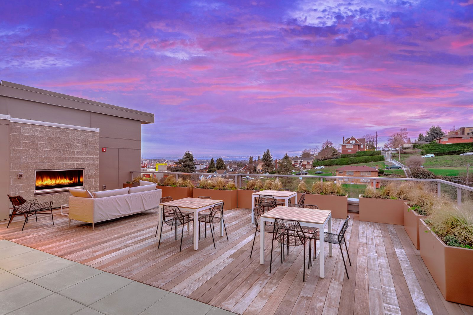 Rooftop Lounge with Gorgeous Views at The Whittaker, 4755 Fauntleroy Way, Seattle