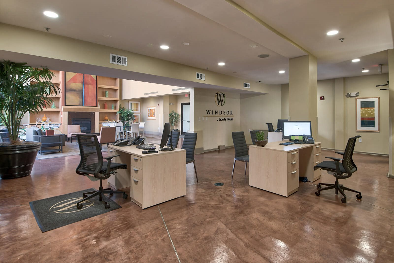 Well-Appointed Leasing Office at Windsor at Liberty House, 115 Morris Street, Jersey City