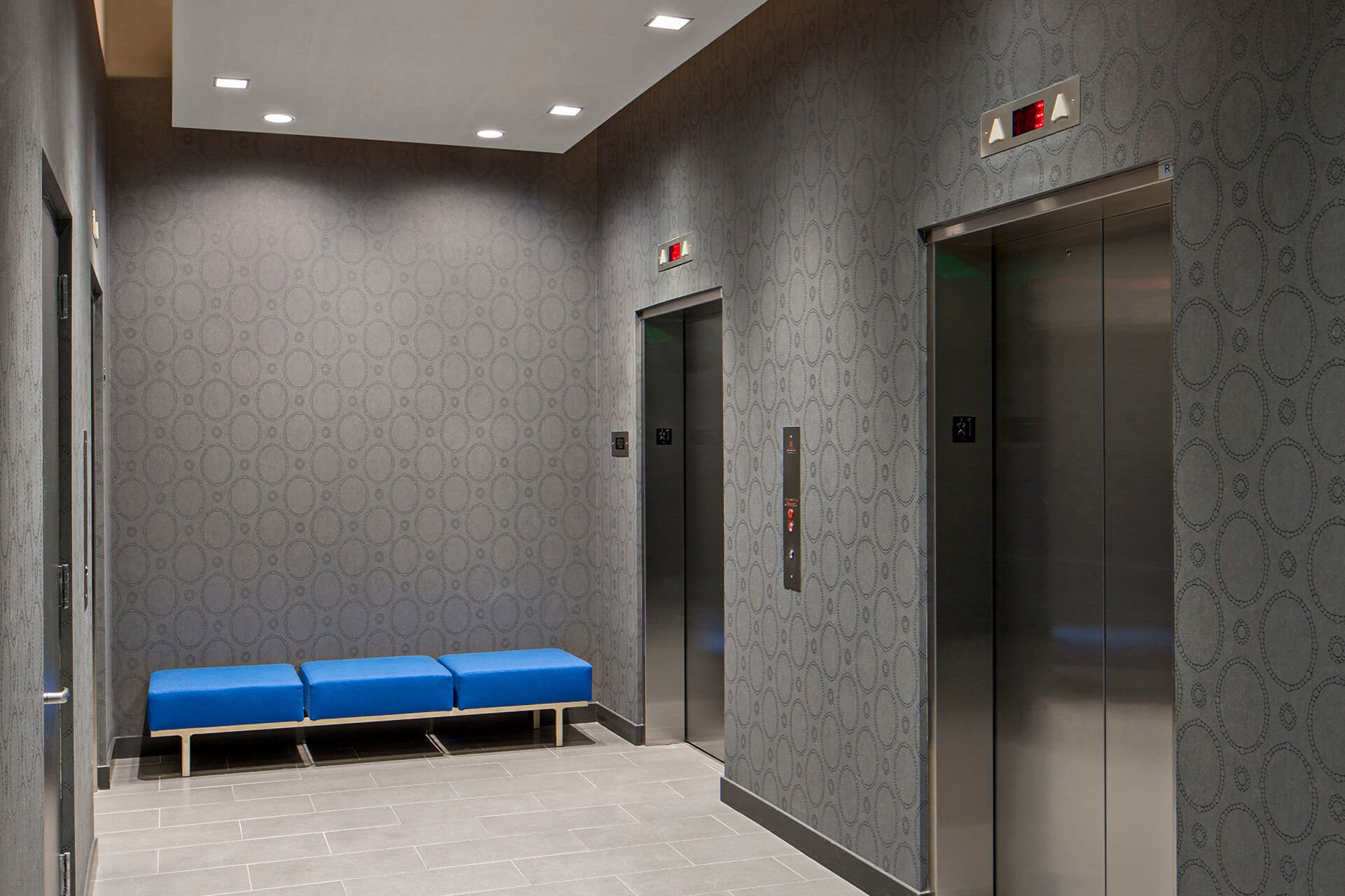 Elevators at Waterside Place by Windsor, Boston, MA