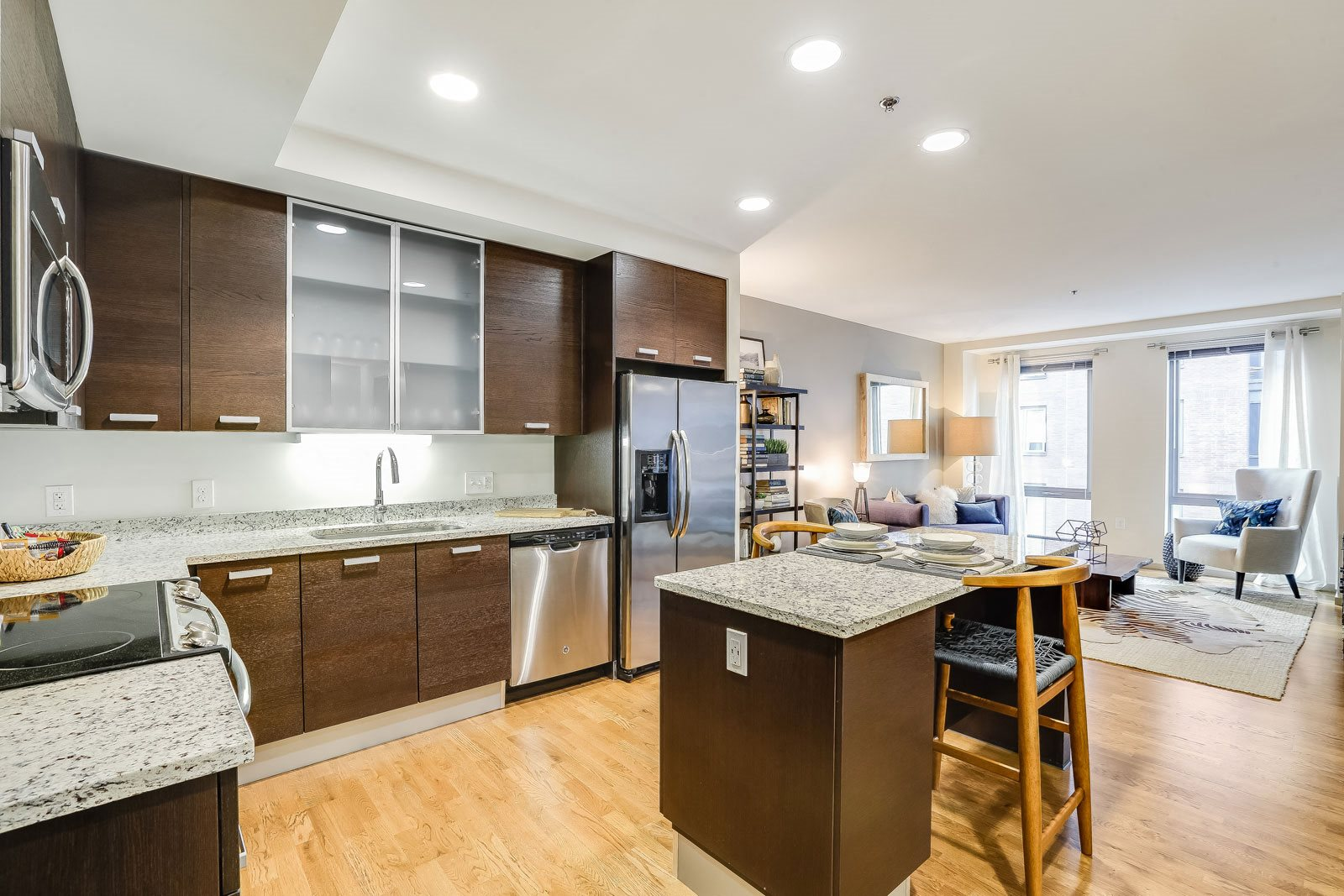 Spacious, open floor plans at The Victor by Windsor, Massachusetts, 02114