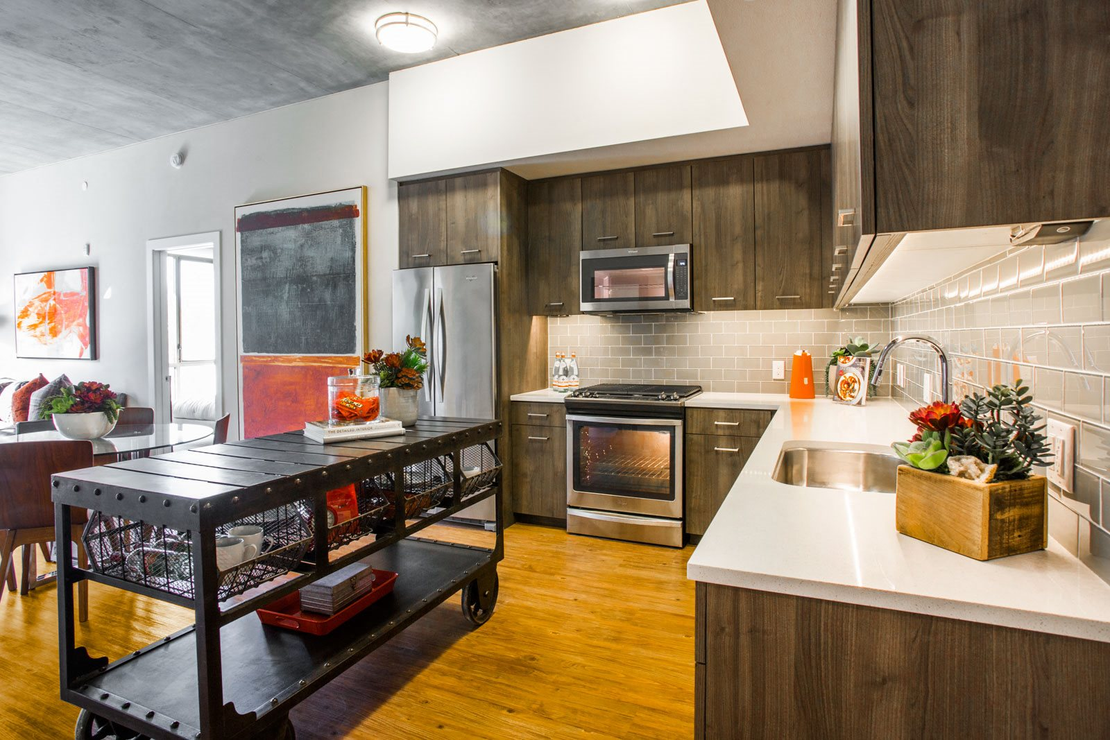 Open Kitchen Space at The Marston by Windsor, 825 Marshall Street, CA