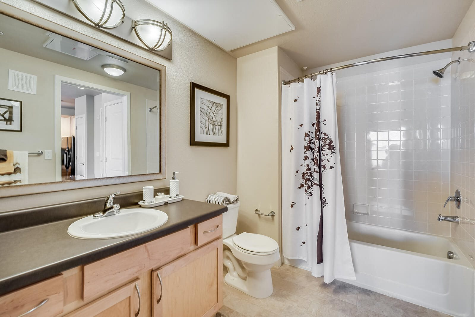 Bathrooms Feature Ample Storage Space at Windsor at Broadway Station, 1145 S. Broadway, CO