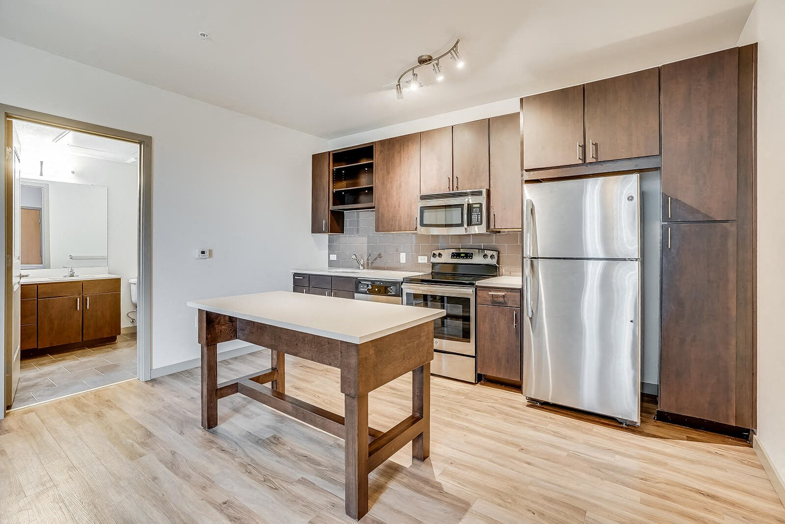 Chef-Inspired Kitchen Islands in Select Apartments at The Casey, 2100 Delgany, Denver