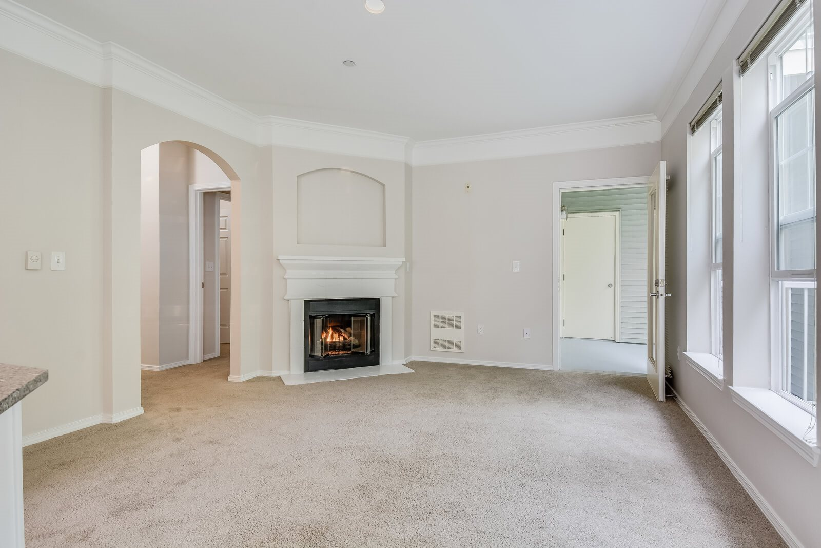 Living Room with Fireplace at The Estates at Cougar Mountain, 2128 Shy Bear Way NW, Issaquah