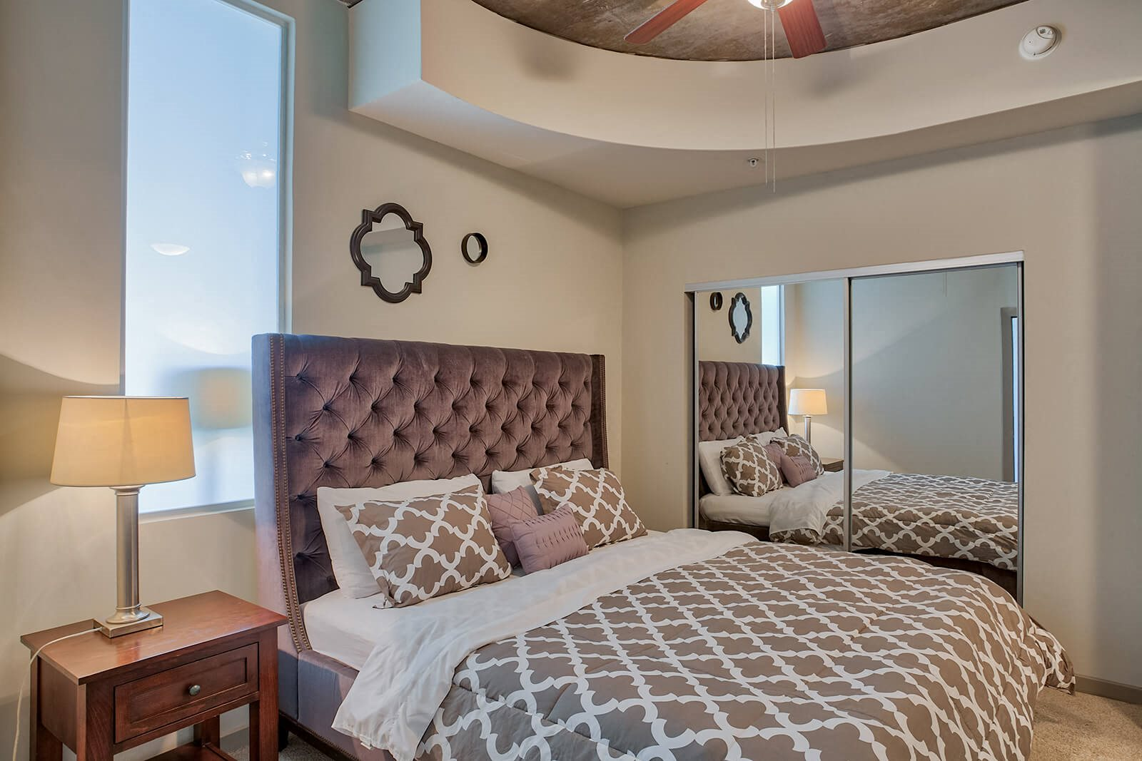 Spacious Bedrooms With Vaulted Ceilings at Glass House by Windsor, Dallas, TX