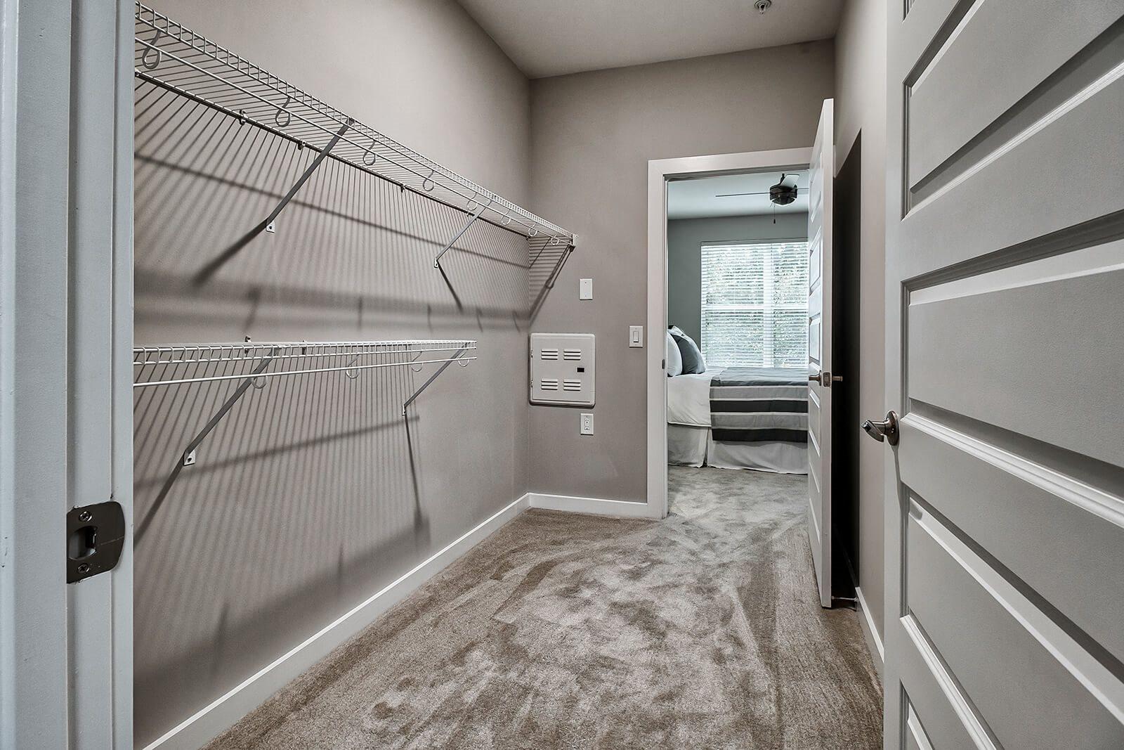 Walk-In Closets with Built-in Shelving at Morningside Atlanta by Windsor, Atlanta, Georgia
