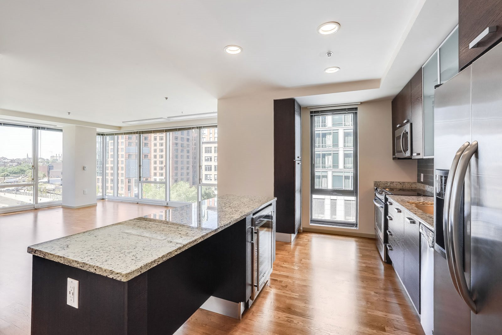 Spacious Kitchen with Italian Cabinets at The Victor by Windsor, Massachusetts, 02114